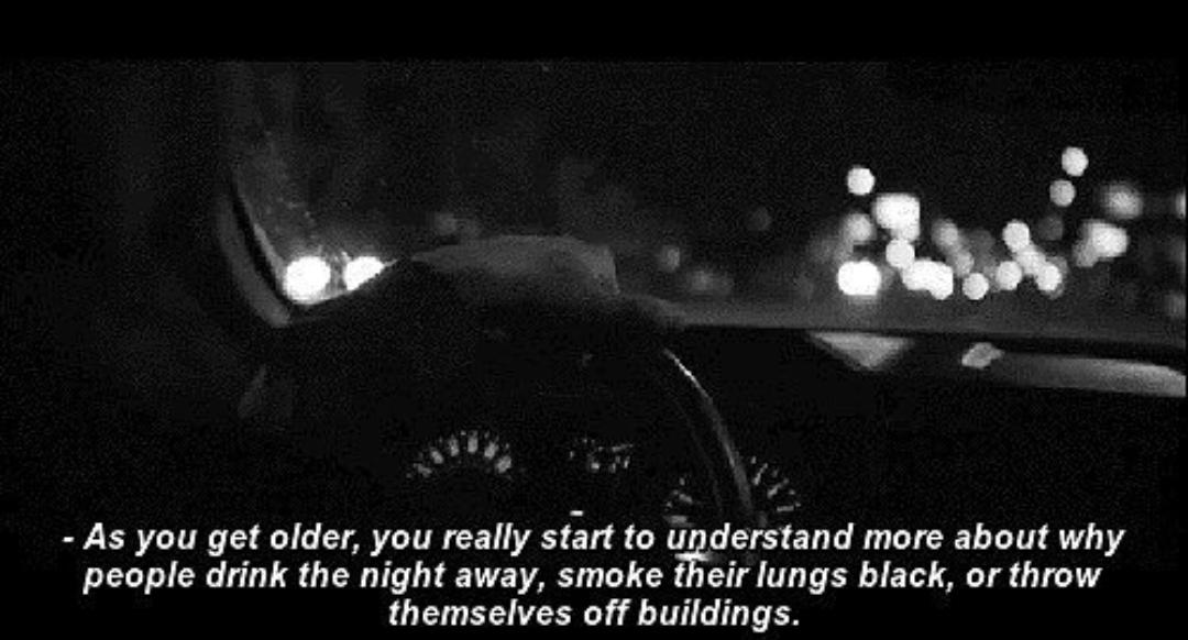 sad, quotes, and smoke image