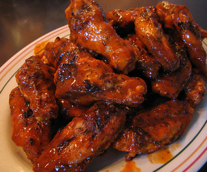 food, wings, and chicken wings image