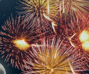 coloured, fireworks, and flash image