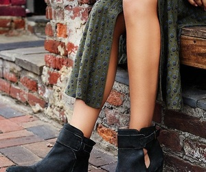 ankle boots, dress, and fashion image