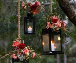 candles, hanging, and decor image