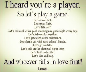 love, player, and game image