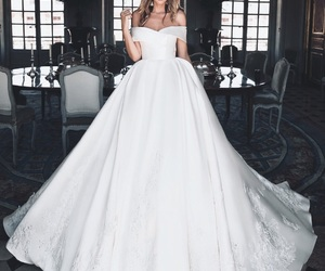 dress, ideas, and wedding image