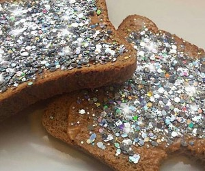 aesthetic, bread, and glitter image