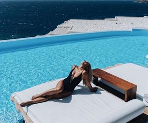 girl, Greece, and mykonos image