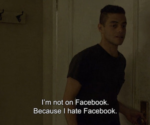 quotes, facebook, and mr robot image