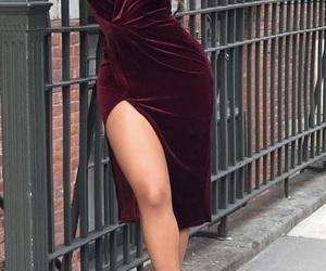 classy, red, and dress image