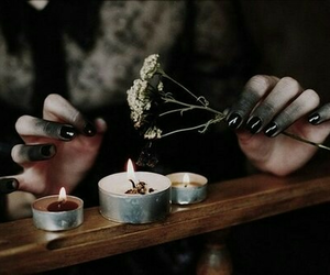 witch, black, and candle image