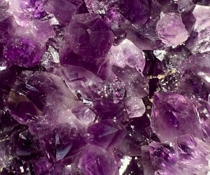wallpaper, purple, and crystal image