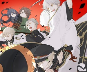 anime boys, heshikiri hasebe, and hizamaru image