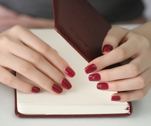nails, red, and hands image