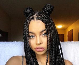 girl, braids, and beauty image