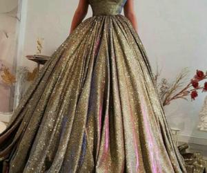 ballgown, elegant, and glittery image