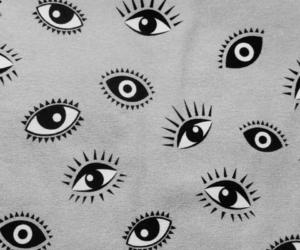 eyes, pink, and wallpaper image