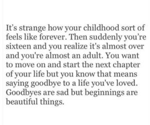 quotes, life, and childhood image