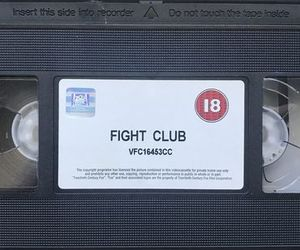 aesthetic, cassette, and fight club image