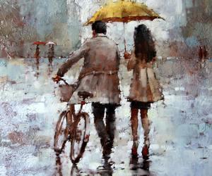 love, art, and rain image