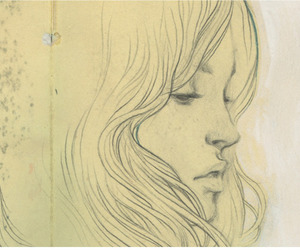 illustration, girl, and drawing image