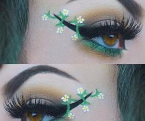 eyebrows, eyelashes, and eyeshadow image