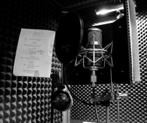 acting, booth, and mic image