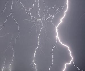 lightning, purple, and sky image