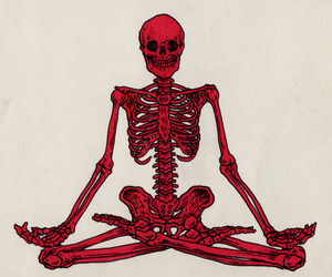skeleton, art, and red image
