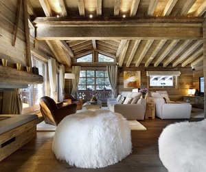 chalet, house, and luxury image