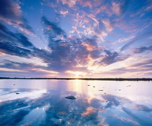 sky, blue, and water image
