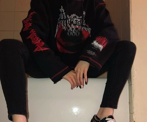clothes, red, and aesthetic image