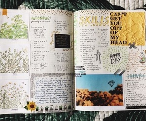 banner, journal, and doodle image