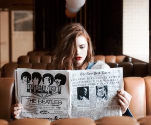 girl, music, and new york image