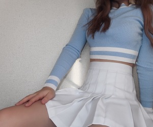 baby blue, blue, and fashion image