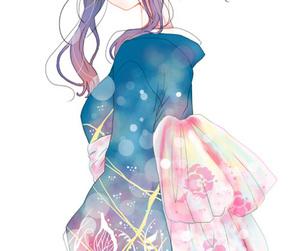 anime, anime girl, and kimono image