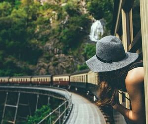 travel, train, and nature image