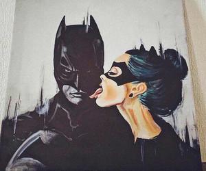 art, batman, and cat woman image