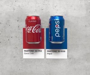 art, coca cola, and colour image