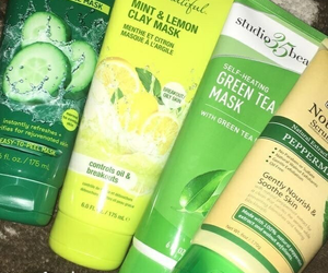 green, skincare, and face masks image