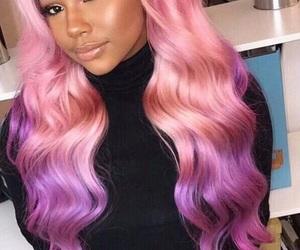 color, hair, and baddie image