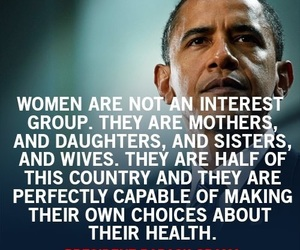 obama, quotes, and women image