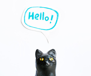 hello, tiny, and yellow eyes image