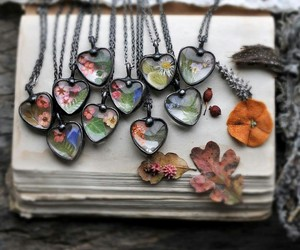 accessories, leaves, and flowers image
