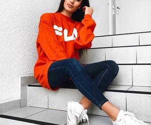 clothes, fashion, and Fila image