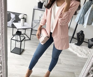 blazer, classy, and jeans image