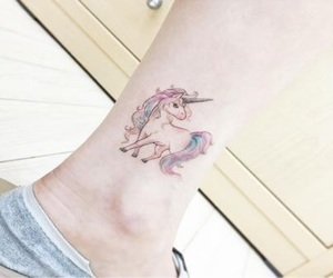 tattoo, unicorn, and fantasy image