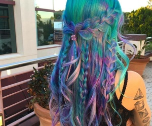 hair, colors, and blue image