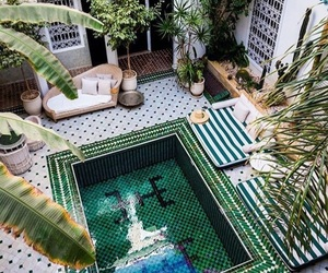 boho, decor, and pool image