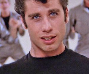 grease, John Travolta, and blue eyes image