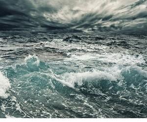 blue, pantone, and sea image
