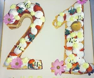 21, birthday, and birthdaycake image