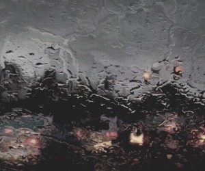rain, car, and art image